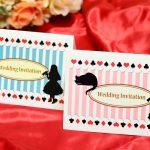 手作り【招待状キット】アリス 1部から買える結婚式の招待状カラーが選べる!
