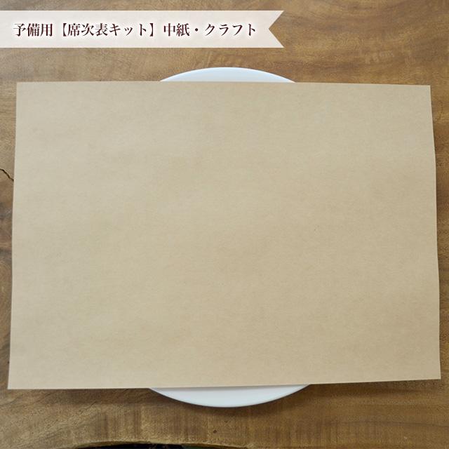 手作りする結婚式席次表の中紙あたたかみのあるクラフト紙