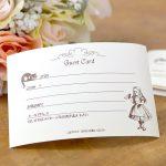 レトロなアリスデザインのゲストカード(芳名帳)