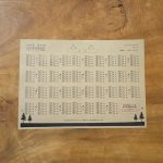 150名の結婚式まで対応できる印刷込みの席次表