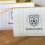 サッカーボールデザインのウェディングペーパーアイテム