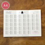 5卓×5卓まで対応できる席次表