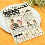 クリスマス 英字新聞 面白い 結婚式演出