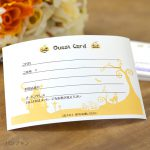 オリジナル 結婚式 ゲストカード