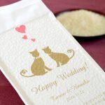 猫をテーマにした結婚式のプチギフトに