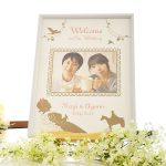 写真が入れられる、白雪姫デザインのオシャレで可愛いウェルカムボード