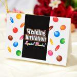チョコ オリジナル 招待状 バレンタイン 結婚式