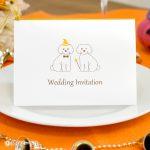 結婚式 招待状 オリジナル ハロウィン