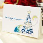 結婚式 クリスマスイルミネーション 星 招待状キット