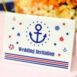 個性的で可愛いマリンデザインの結婚式招待状キット