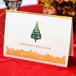 クリスマスツリー 招待状 手作りキット