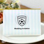 サッカー 招待状 手作り