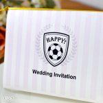 招待状 手作り サッカー