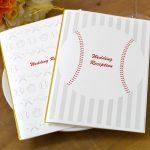 2種類の野球デザインから選べる結婚式の席次表