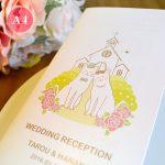 ウェディングペーパーアイテム 白猫 結婚式