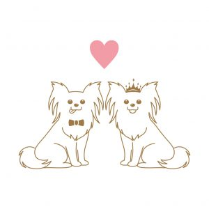 パピヨン 犬 結婚式 ペーパーアイテム