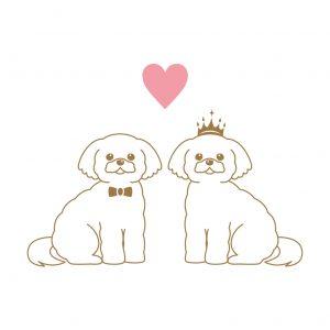 シーズー 犬 結婚式 ペーパーアイテム