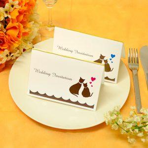 手作り 招待状キット 猫 可愛い