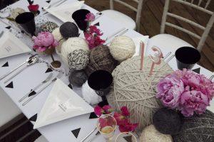 毛糸 センターピース 結婚式演出