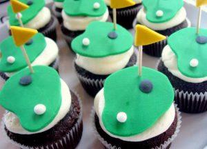 ゴルフがモチーフのカップケーキ