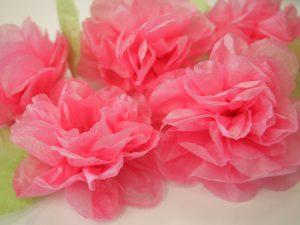 お花紙で作るガーランドに使えるお花