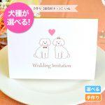 ふわふわ可愛らしいトイプードルやチワワがデザインされたオリジナルの招待状