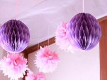 結婚式に使えるハニカムボールの作り方