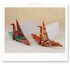 結婚式の席札に使いたいおりはづるの折り方 手作り