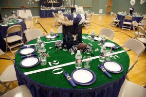 スポーツウェディング テーブル装飾