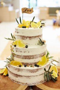 ネイキッドウェディングケーキ レモン ベリー